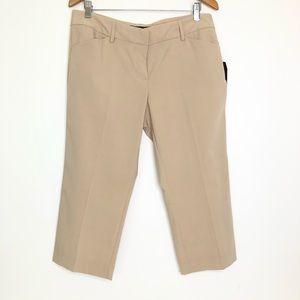 Daisy Fuentes Petite Crop Pants Career Beige Sz 12
